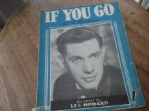 VINTAGE ORIGINAL SHEET MUSIC 1951 IF YOU GO LES HOWARD EMER & PARSONS